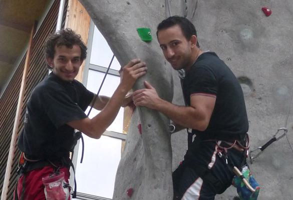 Sportpaten im Einsatz-DAV Kletterprojekt mit Geflüchteten